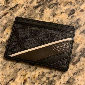 Coach card case.